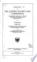 Report of the United States Coal Commission Transmitted Pursuant to the Act Approved September 22, 1922 (Public No. 347)