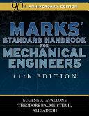 Pdf Marks' Standard Handbook for Mechanical Engineers Telecharger