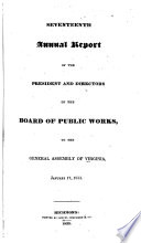Annual Report Of The Board Of Public Works To The General Assembly Of Virginia