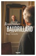 Pdf Remember Baudrillard Telecharger