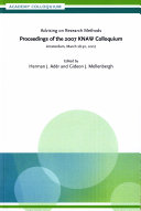 Advising on research methods.: Proceedings of the 2007 KNAW ...