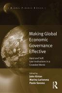 Pdf Making Global Economic Governance Effective Telecharger