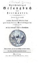 Vollständiges Gesangbuch für Freimaurer