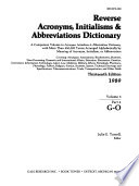 Reverse Acronyms, Initialisms, & Abbreviations Dictionary