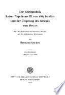 Die Rheinpolitik Kaiser Napoleons III