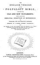 The English Version of the Polyglott Bible  Etc