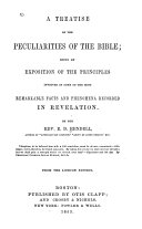 A Treatise on the Peculiarities of the Bible