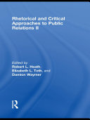 Pdf Rhetorical and Critical Approaches to Public Relations II Telecharger