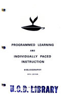 Programmed Learning and Individually Paced Instruction