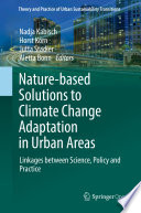 Nature Based Solutions to Climate Change Adaptation in Urban Areas Book