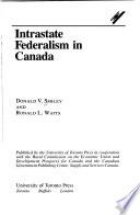 Intrastate Federalism in Canada