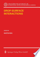 Drop-Surface Interactions