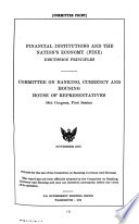 FINE  Depository institutions and housing  Regulation of depository institutions
