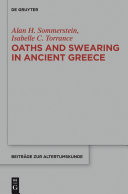 Oaths and Swearing in Ancient Greece Pdf/ePub eBook