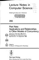 Advances in Petri Nets 1986  Proceedings of an Advanced Course  Bad Honnef  8  19  September 1986