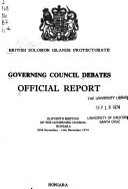 Governing Council Debates Book
