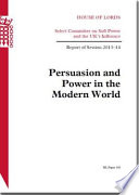 House Of Lords Persuasion And Power In The Modern World Hl 150
