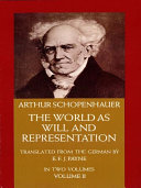 Pdf The World as Will and Representation