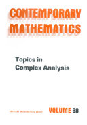 Topics in Complex Analysis Pdf/ePub eBook
