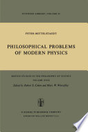 Philosophical Problems of Modern Physics Book