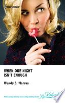 When One Night Isn't Enough Pdf/ePub eBook