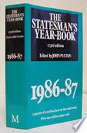 The Statesman S Year Book 1986 87