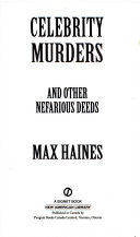 Celebrity Murders and Other Nefarious Deeds Book