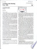 A Profile Of The Working Poor