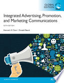 Integrated Advertising, Promotion and Marketing Communications Global Edition
