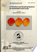 A Manual Of Postharvest Handling Systems For Perishable Food Crops Book PDF