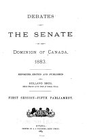 Debates of the Senate of the Dominion of Canada