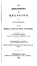 Pdf The Philosophy of Religion, Or, An Illustration of the Moral Laws of the Universe