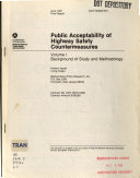 Public Acceptability of Highway Safety Countermeasures  Background of study and methodology