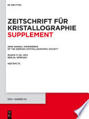 22nd Annual Conference of the German Crystallographic Society  March 2014  Berlin  Germany Book