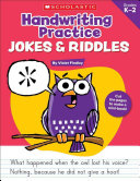 Handwriting Practice Jokes   Riddles  Grades K 2