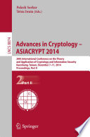 Advances In Cryptology Asiacrypt 2014 Book PDF
