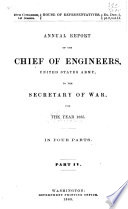 Report of the Chief of Engineers U S  Army Book
