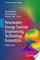 Renewable Energy Sources  Engineering  Technology  Innovation