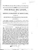 Journal de Lyon, ou Moniteur du département de Rhône-et-Loire... [publié par Prudhomme, continué par Carrier, J-L. Fain]