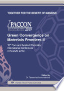 Green Convergence on Materials Frontiers II