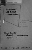 Pdf Detroit Public Library ... Annual Report
