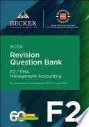 ACCA Approved   F2 Management Accounting  September 2017 to August 2018 exams  Book PDF