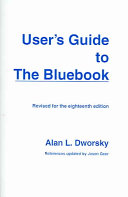 User's Guide to the Bluebook