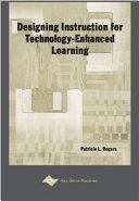 Designing Instruction for Technology enhanced Learning