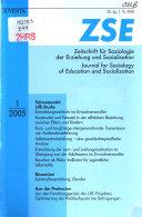 Zeitschrift für Soziologie der Erziehung und Sozialisation
