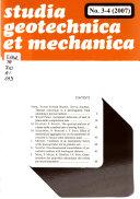 Studia Geotechnica Et Mechanica