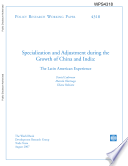 Specialization And Adjustment During The Growth Of China And India Book PDF