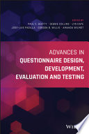 Advances in Questionnaire Design  Development  Evaluation and Testing