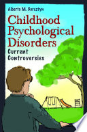 Childhood Psychological Disorders Book