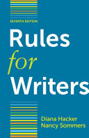 Rules for Writers with Writing about Literature  Tabbed Version